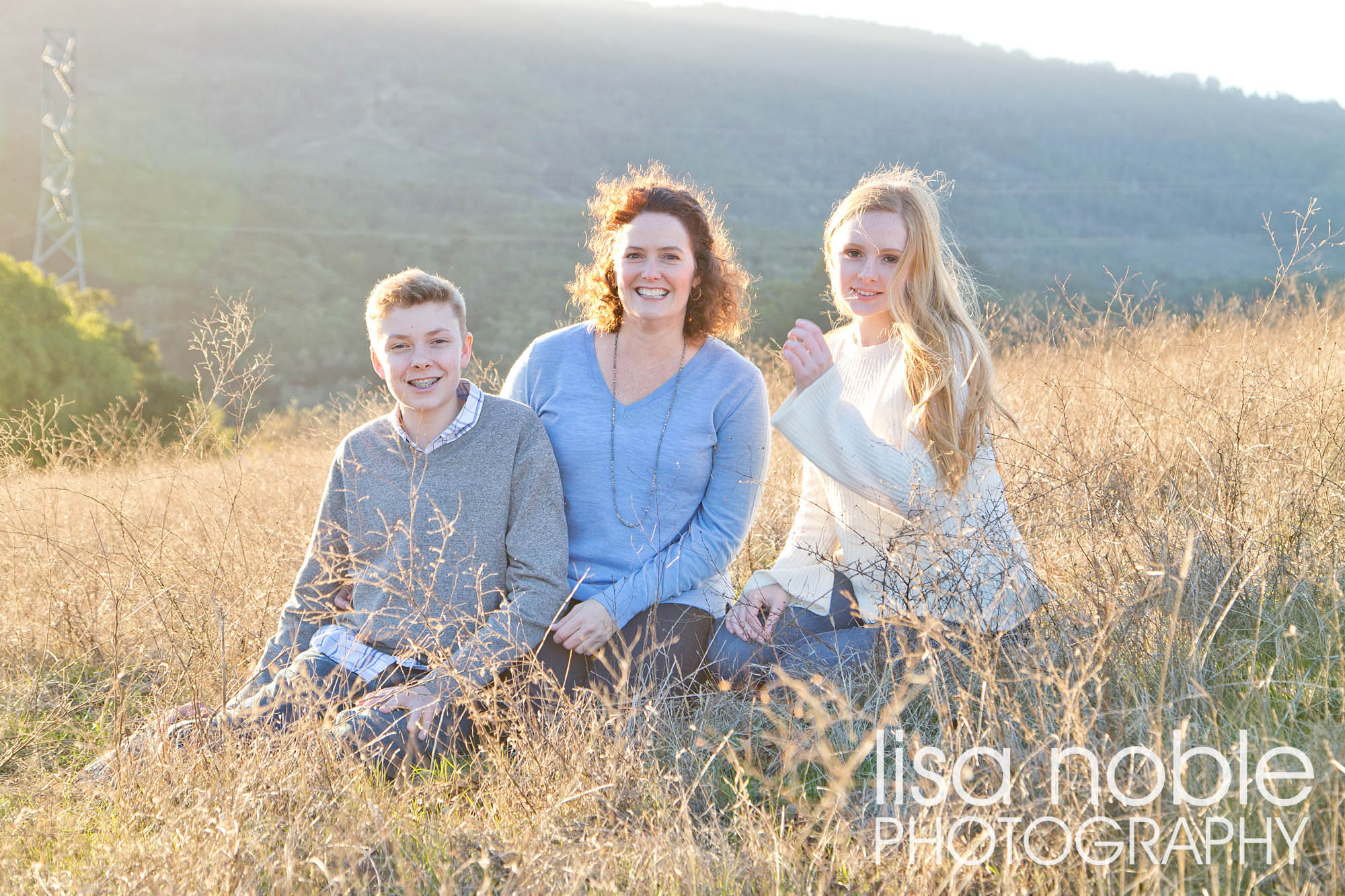 Professional family photography in the golden Bay Area hills