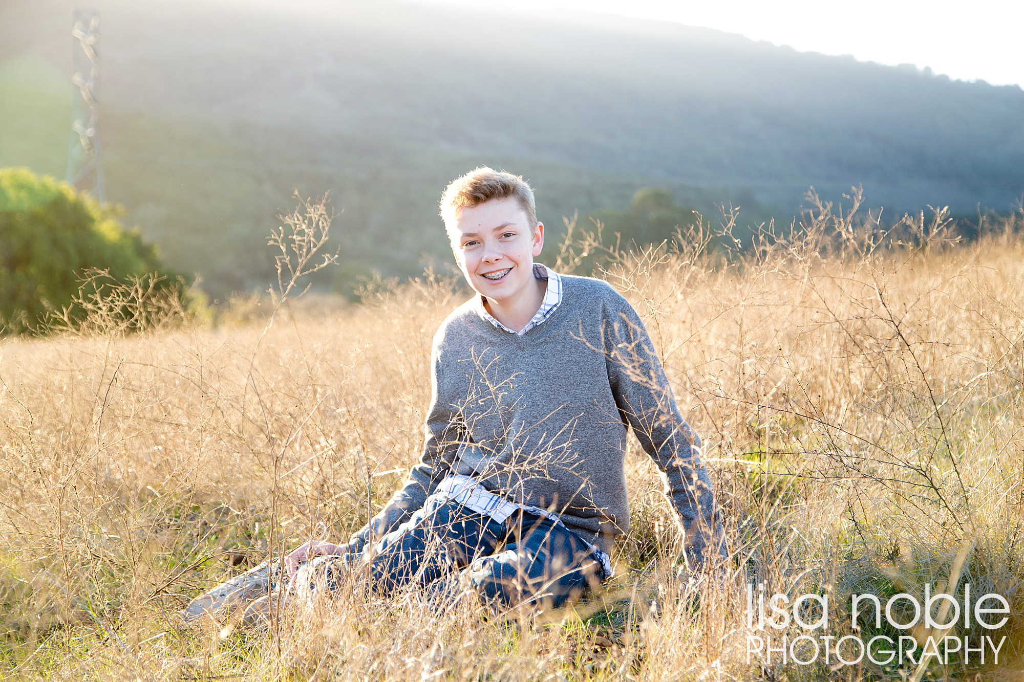 Bay Area professional family photgraphy in the Golden California Hills back light